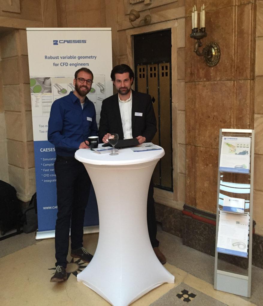 Mattia Brenner (left) from FRIENDSHIP SYSTEMS, meeting Johannes Ratz from the TU Darmstadt